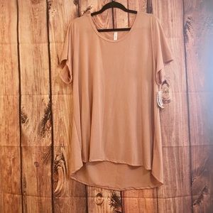 NWT mauve solid pink classic t